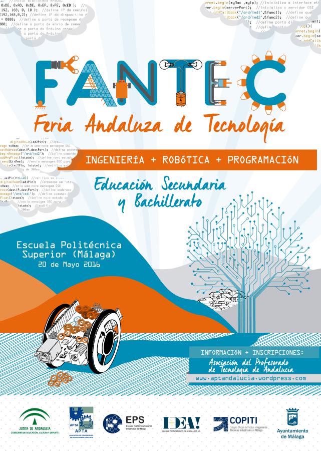 Cartel II Feria Andaluza de Tecnología  FANTEC 2016