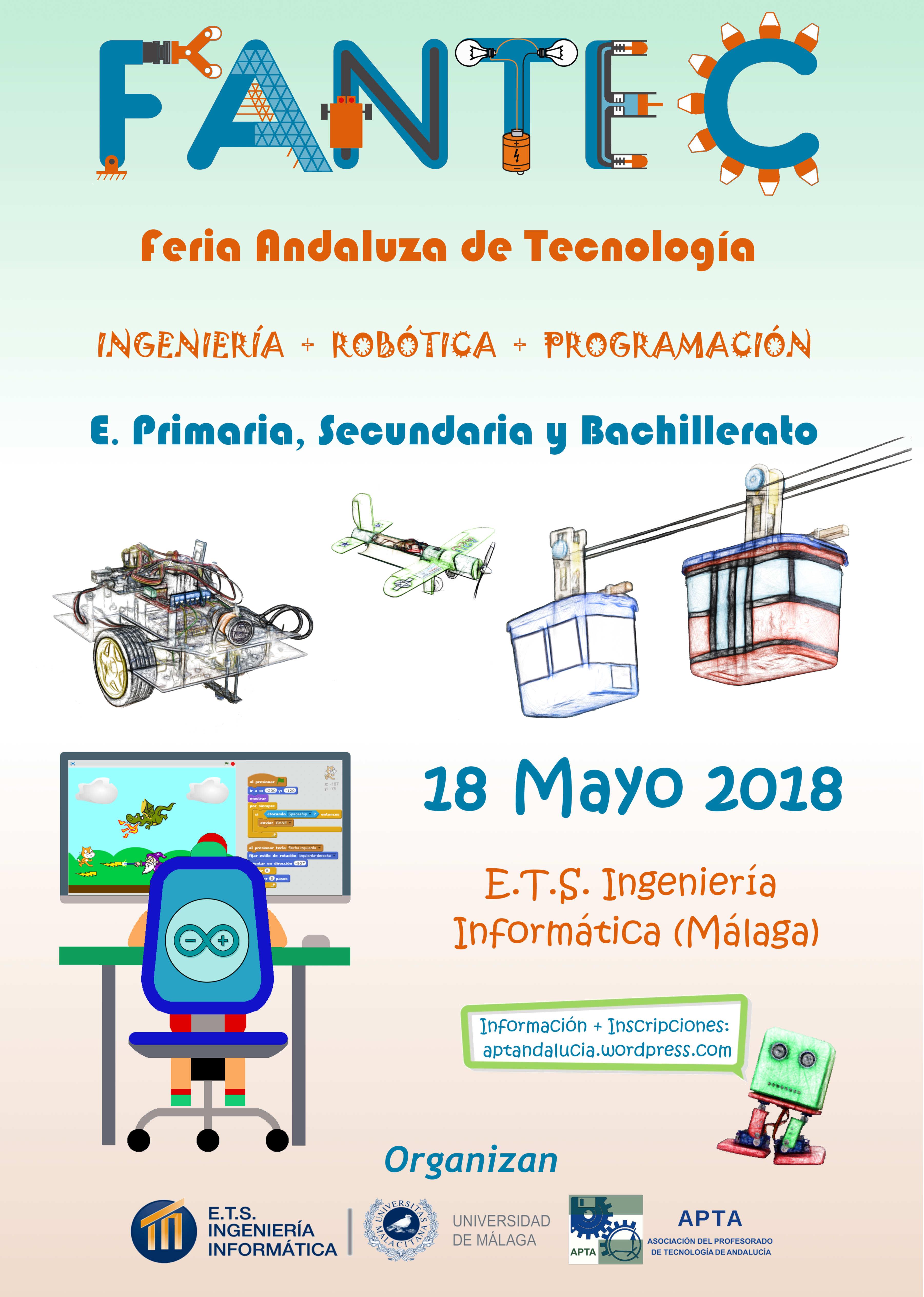 Cartel IV Feria Andaluza de Tecnología  FANTEC 2018