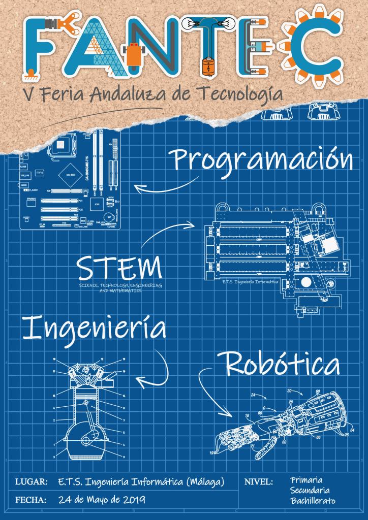 Cartel V Feria Andaluza de Tecnología  FANTEC 2019